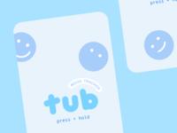 tub onboarding pastel sad happy mood interactive landing launch onboarding ux illustration branding typography cute type vector flat design 2d ui