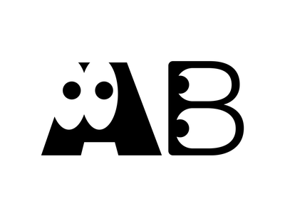 Ab coco b a fun eyes character character design lettering letters print print design artwork typography cute type vector flat abstract design 2d