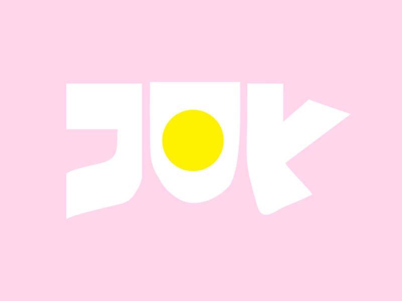joy print logo coco character distort color cody design abstract 2d flat artwork yellow cute branding illustration vector graphic design typography type