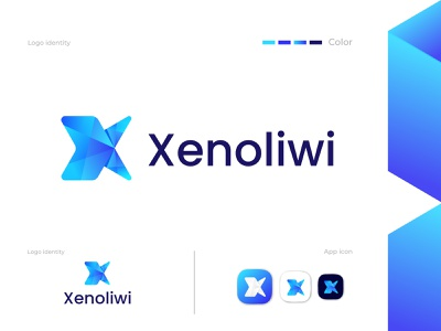 Modern X letter logo concept || Xenoliwi logo design modern logo logo mark x letter logo letter x logo design visual identity logotype gradient brand identity abstract flat graphic design minimal icon app vector branding logo illustration design