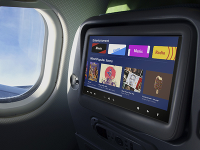 fit-all in air entertainment systems menu airline travel passenger airbus boeing entertainment system airplane air