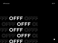 A tribute to OFFF Moscow offf background flag cover cinema4d 3d animation abstract typography