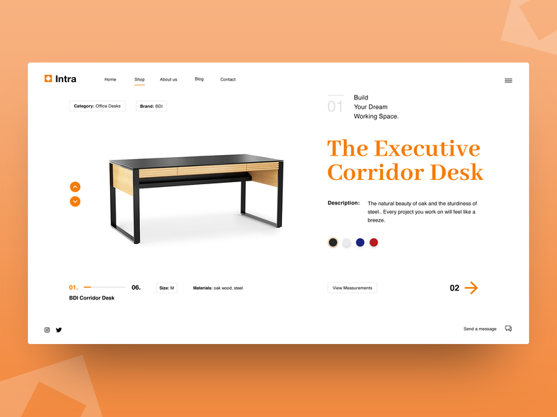 Furniture Store Concept ui design store website user interface