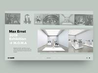 'Max Ernst' Exhibition Concept