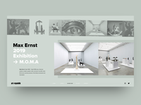 'Max Ernst' Exibition Concept