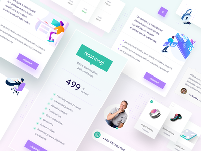 Napojse   elements ui ux website modern webdesign clean illustration ui design ui  ux uiux price elements web light