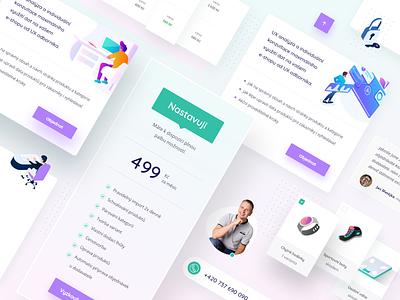 Napojse   elements ui ux website modern webdesign clean illustration ui design ui  ux uiux price elements web light