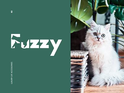 Fuzzy colors clean typography minimal cat modern animation logo design branding