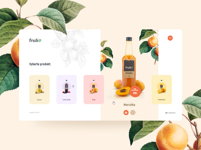 Fruli - design concept clean illustration modern light webdesign web design website web design