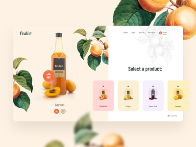 Fruli - design concept interface homepage landing page colors design fruit illustration website uiux webdesign modern light ui ux clean web