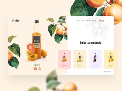 Fruli - design concept interface homepage landing page colors design fruit illustration website uiux webdesign modern light ui ux clean web