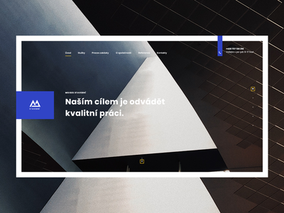 Moises - construction company colors layout landing page homepage construction company design website uiux webdesign modern ux web