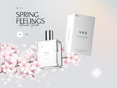 Mullu | Parfume clean website webdesign web modern flower parfum screen layout typography design