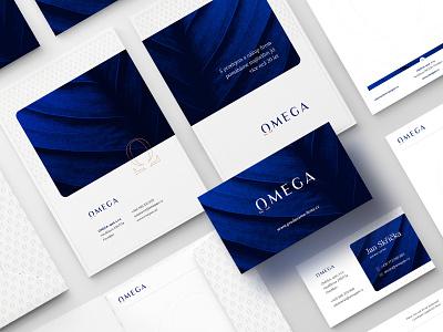 OMEGA branding minimalist logo minimal blue typography branding design logo modern clean