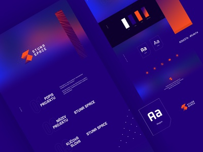 Stuna space logodesign orange blue technology blockchain modern design brand identity brand logo