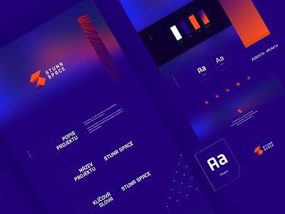 Stuna space logodesign orange blue technology blockchain modern design brand identity brand logo