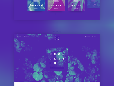 GLAM app shop mobile violet perfume web ux ui photography landing clean