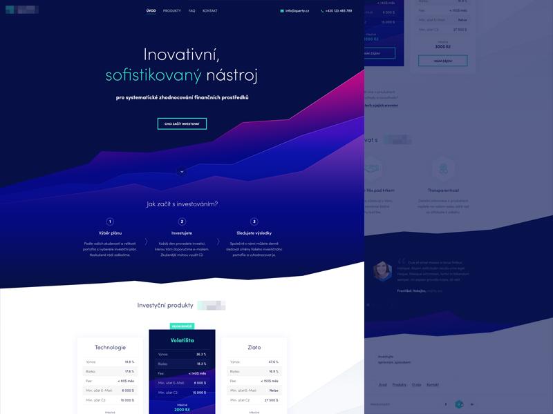Investment instruments investing money uiux dark website web
