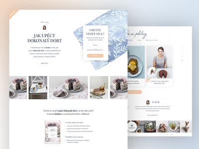 Food blog re-design