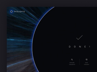 Save Your Thoughts experiment ux ui dark design web