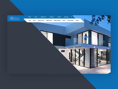 Upcoming project animaiton interaction flat experiment web design vector design modern desktop blue website webdesign uiux light clean ui ux dark web