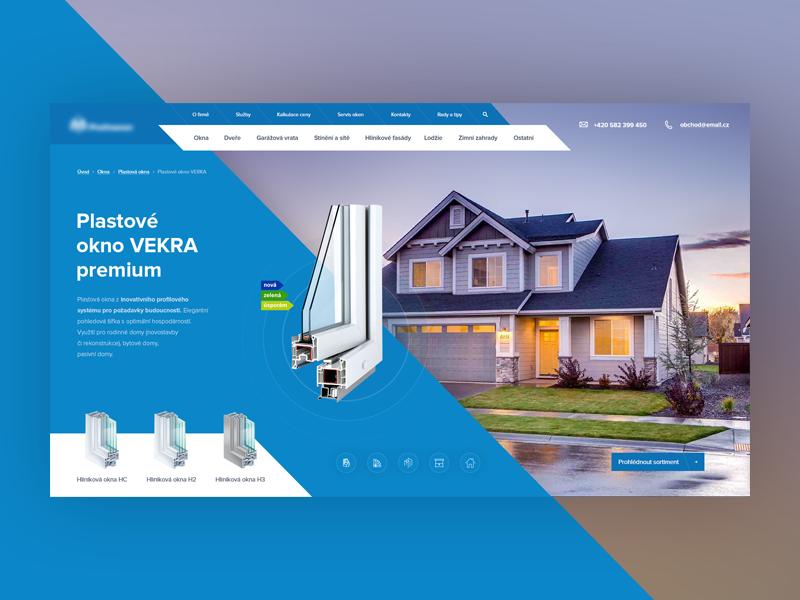 Upcoming project window uiux design web design website modern desktop blue webdesign light clean ui ux web
