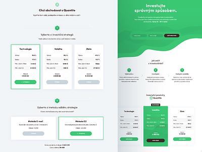 Quantite financial green web design modern desktop website webdesign uiux light clean ui ux web