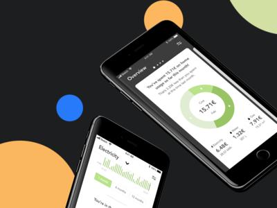 Home energy usage tracker mobile app