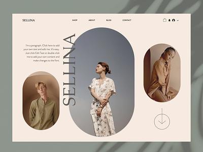 Ecommerce Website - Sellina web ui design