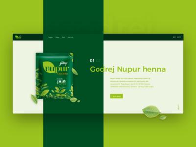 Godrej Nupur Henna Website Concept