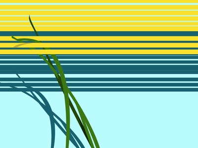 Yellow Stripes Illustration