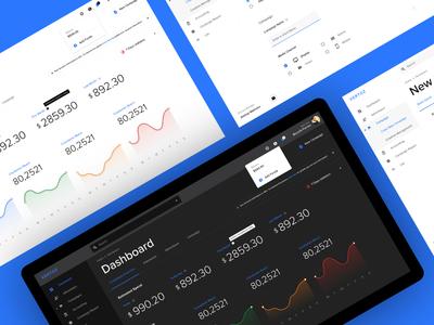 Web Dashboard in Dark & Light Versions