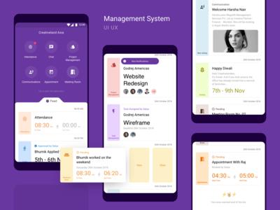 Management System UI UX