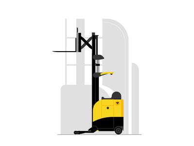 Reach Trucks Illustration For Godrej RenTrust Website