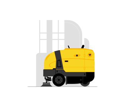 Sweeper Illustration For Godrej RenTrust Website