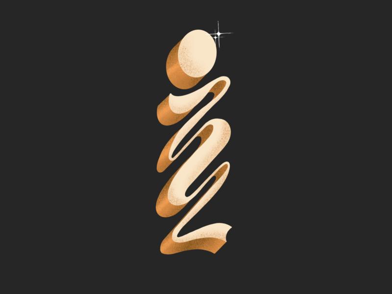 Letter I illustration hand lettering procreate 36daysoftype design typography lettering type