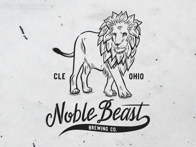 Hops Lion for Noble Beast Brewing Co. design logo typography type lettering branding cleveland brewery beer hops lion illustration