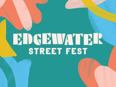 Edgewater Street Fest Branding event identity festival brand brand identity branding hand lettering cleveland design typography type lettering