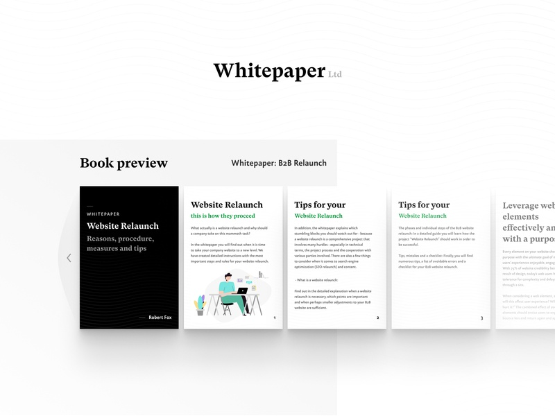 Whitepaper - B2B Digital Book (Book Preview) page landing digital book whitepaper paper website b2b concept business product design ux ui