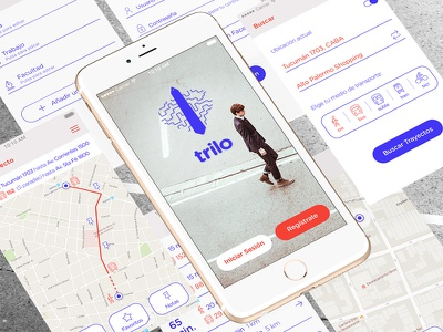 Trilo App transport app public transport user interface user experience iphone invision brand icons mobile ios ui ux