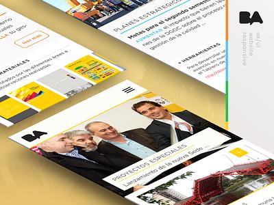 Observatorio de Gobierno free tablet desktop mobile icons cards web responsive grid yellow government ui ux