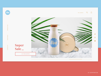 Liva ecommerce simple look and feel brand web adobe xd ux ui products productos shop home decor