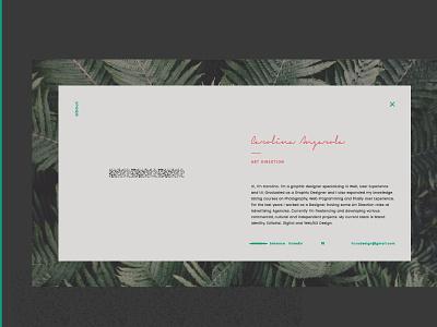 Portfolio > About argentina editorial responsive self promotion screens golden ratio mobile first mobile tablet desktop digital art direction portfolio about