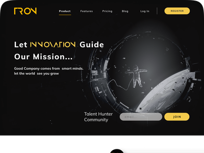 Space Travel Hero Page space s[pace ui ux design graphic design figma