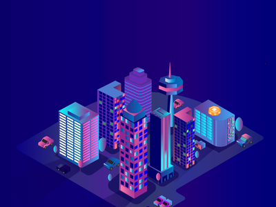Future City Look ux vector logo ui branding figma photoshop graphic design design illustration
