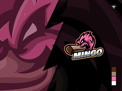 Flamingo Mascot Logo gaming logo gaming illustration logo design logodesign mascot logo vector e-sport