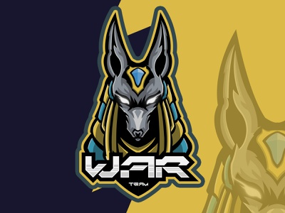 War team Mascot Logo vector mascot gaming illustration logo design e-sport logo design