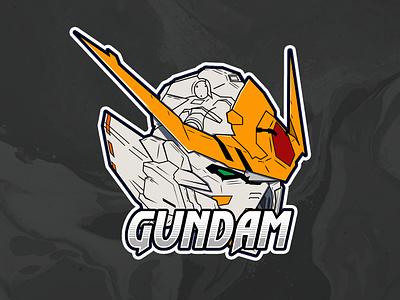 Gundam Barbatos illustration design logo