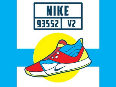 Nike Line art shoes illlustration