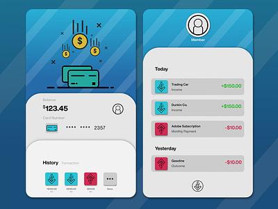 Saving App UI Design app design uxdesign uidesign uiux bank app bank illustration ui design